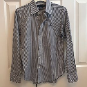 Ralph Lauren Striped Oxford Size 12 NWOT